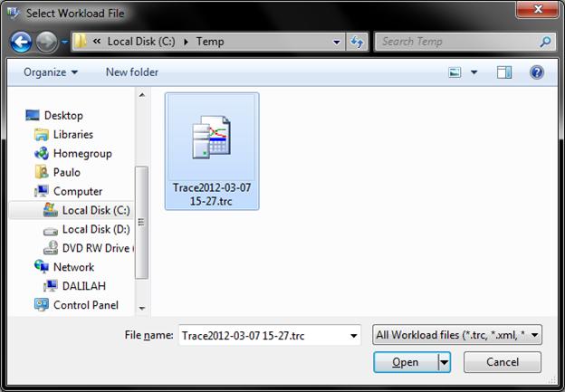 Arquivo de trace gerado com .NET via SMO