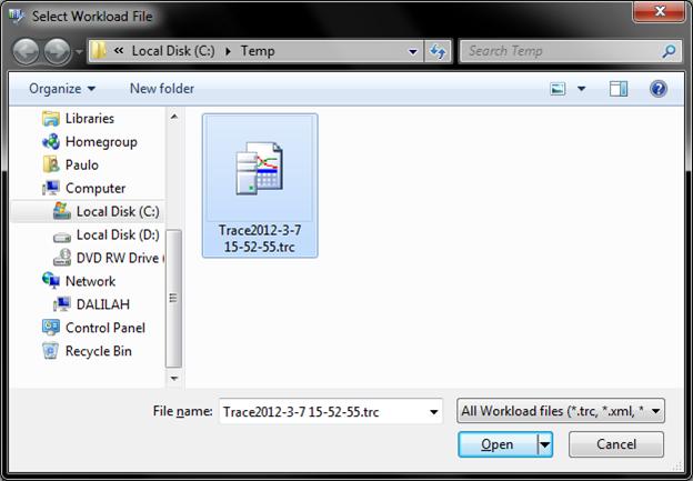 Arquivo de trace gerado com PowerShell via SMO