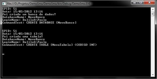 Capturando eventos do SQL Server com .NET via SMO